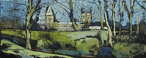 Susan Isaac - Southwell Minster from the Recreation Ground