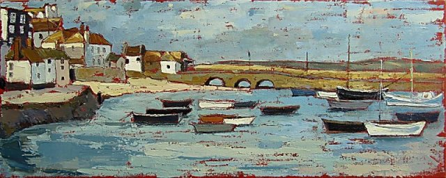 Susan Isaac - Rising Tide in the Harbour, St Ives