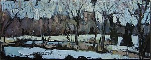 Susan Isaac - Southwell Minster from the Potwell Dyke