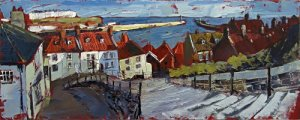 Susan Isaac - Early Morning Light, Whitby Steps