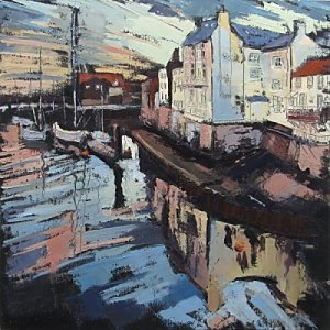 Susan Isaac - Old Whitby from Swingbridge
