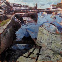 Susan Isaac - Porthleven Harbour from the Slipway