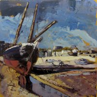 Susan Isaac - Low Tide at Harbour Beach, St Ives