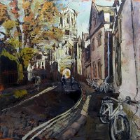 Susan Isaac - Tom Tower (Christ Church) from Pembroke Square, Oxford