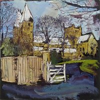 Susan Isaac - Southwell Minster from Bishop's Drive