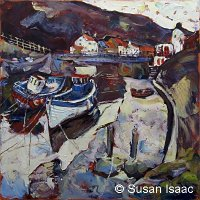 Susan Isaac - Footbridge over Staithes Beck