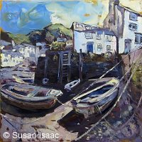 Susan Isaac - Old Harbour Wall at Polperro