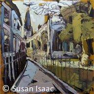Church Walk, Newark (oil on canvas, 50x50cm) Sold