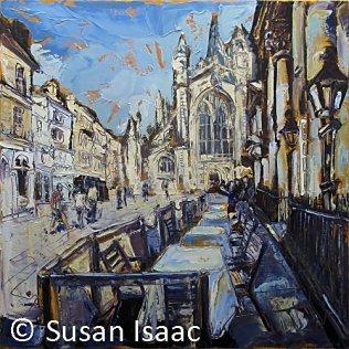Susan Isaac - Outside the Pump Room, Bath