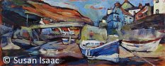 Susan Isaac - Staithes Beck and Footbridge
