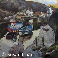 Susan Isaac - The Footbridge over Staithes Beck