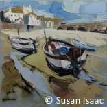 Susan Isaac - The Harbour Beach at St Ives - Cornish painting