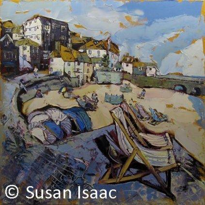 Susan Isaac - The Wharf, St Ives - Cornish painting