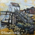 Susan Isaac - Weather Station and Harbour at Wells-next-the-Sea