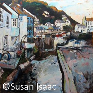 Susan Isaac - Polperro Harbour from Roman Bridge
