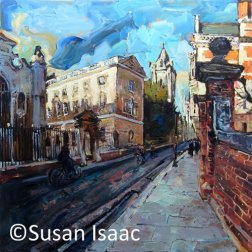 Susan Isaac - Peterhouse from Trumpington Street Cambridge