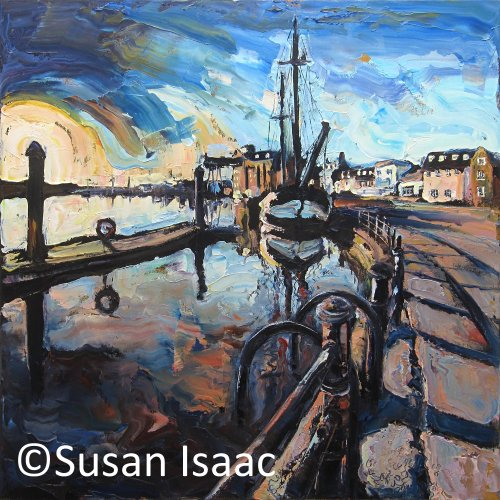 Susan Isaac - Towards the Harbour at Wells-Next-The-Sea
