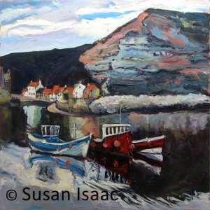 Susan Isaac - Cowbar Nab and North Side at Staithes