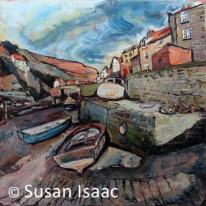 Susan Isaac - The Slipway at Beckside, Staithes