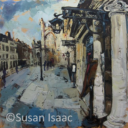 Susan Isaac - Abbey Church Yard & The Pump Room, Bath