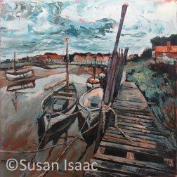 Susan Isaac - Boats at Blakeney