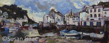 Susan Isaac - Fish Quay & Harbour, Polperro - Cornish painting