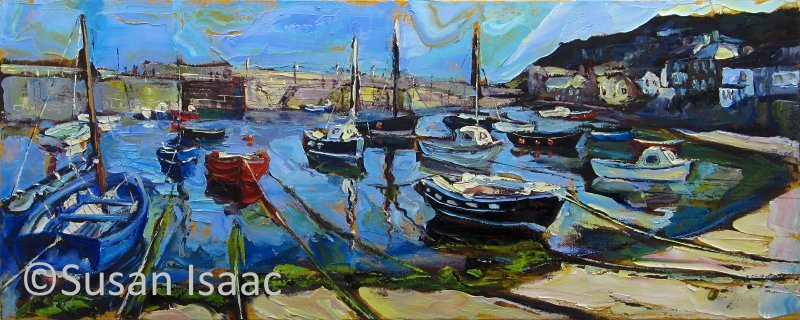 Susan Isaac - Mousehole Harbour from the Beach