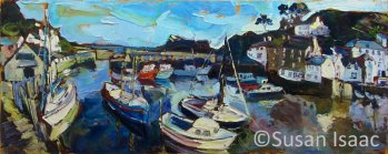 Susan Isaac - Polperro Harbour - Cornish painting