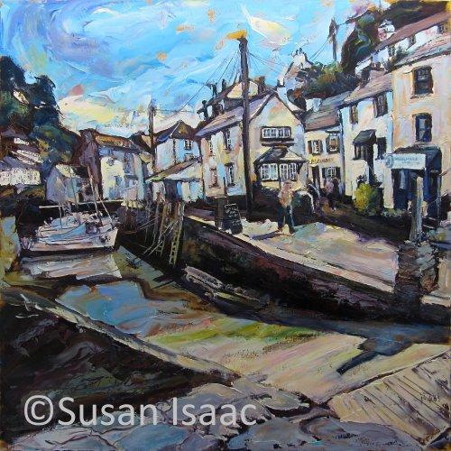 Susan Isaac - Polperro Harbour Slipway - Cornish painting