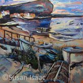 Susan Isaac - Staithes and Cow Bar Nab