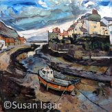 Susan Isaac - Staithes from the Beck