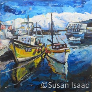 Susan Isaac - The Harbour at Mevagissey
