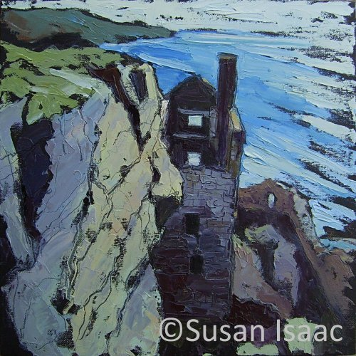 Susan Isaac - The Lower Crowns Engine House at Botallack