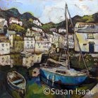Susan Isaac - The Old Harbour Wall at Polperro - Cornish painting
