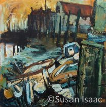 Susan Isaac - Three Boats in Blakeney
