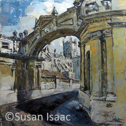 Susan Isaac - Through the arch on York Street, Bath