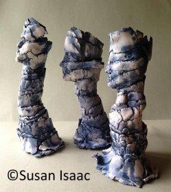 'Sentinels' (ceramic, 20-25cm high). Contact Susan