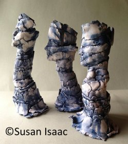'Sentinels' (ceramic, 20-25cm high). Contact Susan