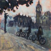Susan Isaac - Looking Across Parliament Square London
