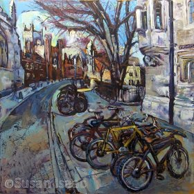 Susan Isaac - St Johns College from Trinity Street Cambridge