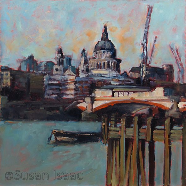 Susan Isaac - St Pauls from Oxo Tower Wharf