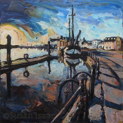 Susan Isaac - The Harbour at Wells-Next-The-Sea