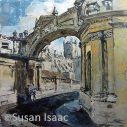 Susan Isaac - Through the arch on York Street, Bath