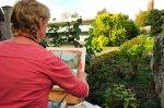 Susan Isaac paintining 'en plein air'