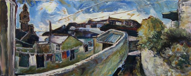 Susan Isaac - Porthleven from above the Institute