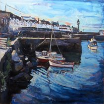 Susan Isaac - Porthleven Harbour Morning Light