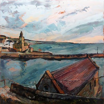 Susan Isaac - Porthleven Institute from the Old Life Boat Station