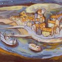 Susan Isaac - Staithes at Night (2006)