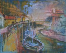 189 Susan Isaac - Boats on Staithes Beck (2006) Sv102250