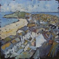 Susan Isaac - The Island and Porthmeor from Tate St Ives